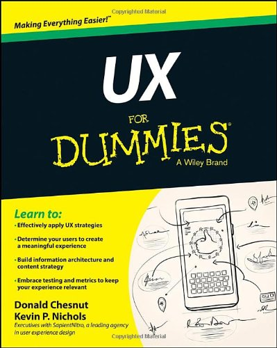 UX for Dummies Cover by Kevin P Nichols