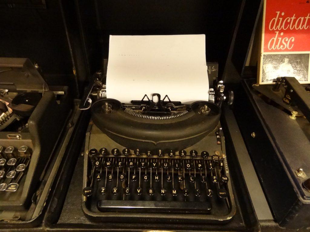 Remington Typewriter with Paper